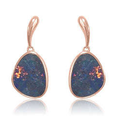14kt Rose Gold Opal dangling earrings
