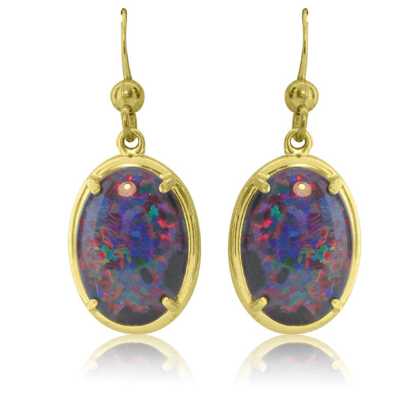 Silver Gold plated Opal earrings