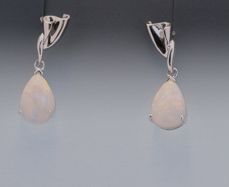 Sterling Silver Opal earrings - Masterpiece Jewellery Opal & Gems Sydney Australia | Online Shop