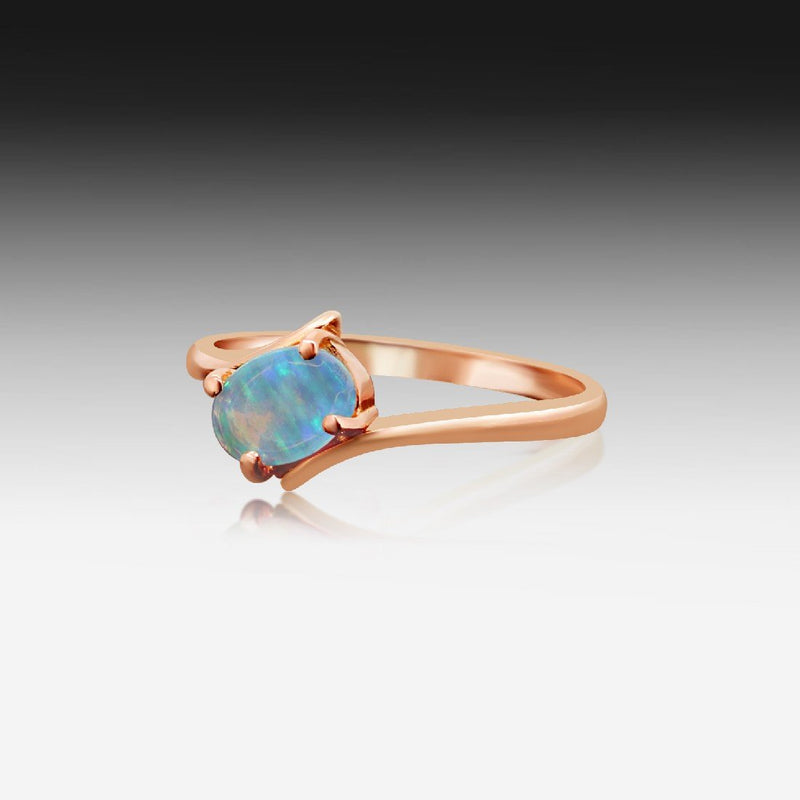 14kt Rose Gold Opal ring - Masterpiece Jewellery Opal & Gems Sydney Australia | Online Shop