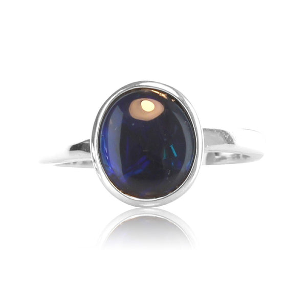 Sterling Silver Black Opal ring