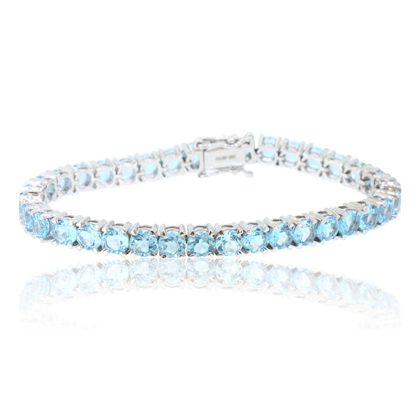 9kt White Gold Blue topaz bracelet