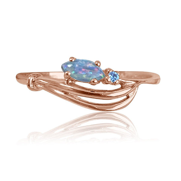 14kt Rose Gold Opal Diamond ring - Masterpiece Jewellery Opal & Gems Sydney Australia | Online Shop
