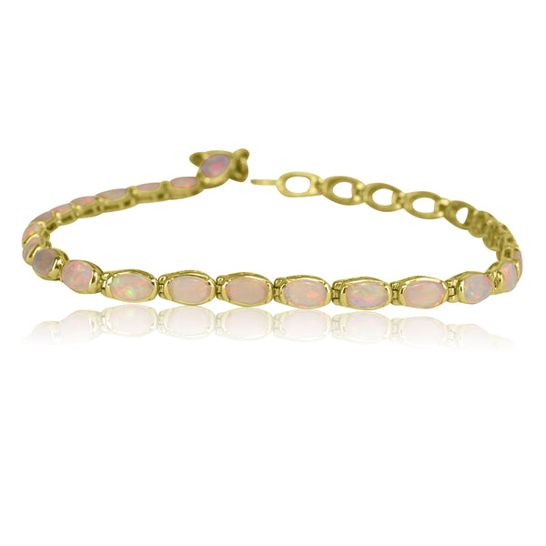14kt Yellow Gold Opal bracelet