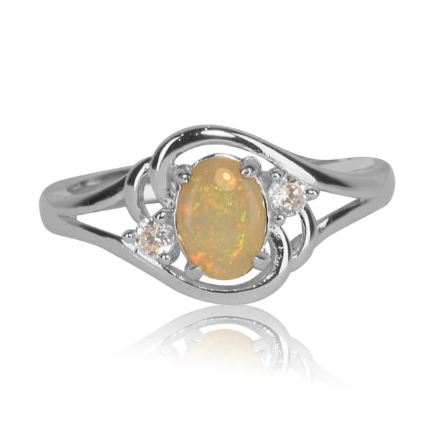 Sterling Silver White Opal ring