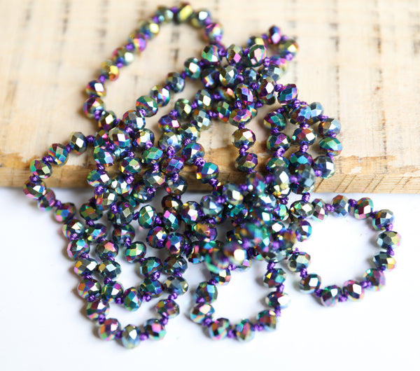 "60"" Shimmer Beaded Necklace // Click for more colors"
