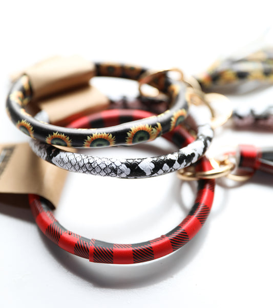 Printed bangle Keyring