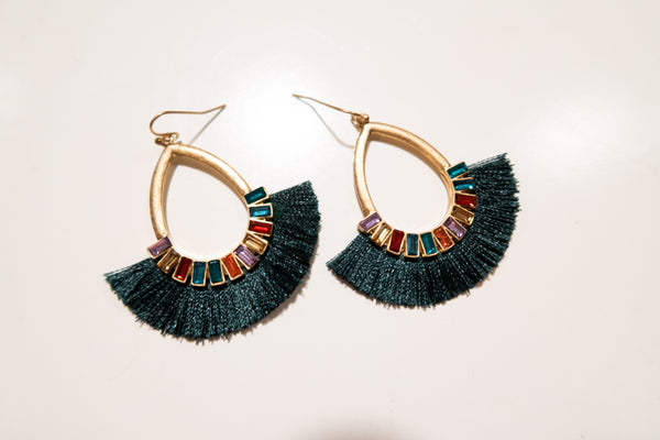 Jeweled Fringe Earrings