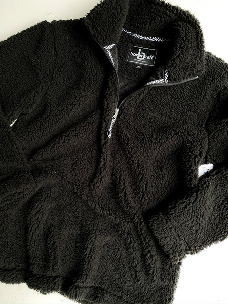 Black quarter zip Sherpa