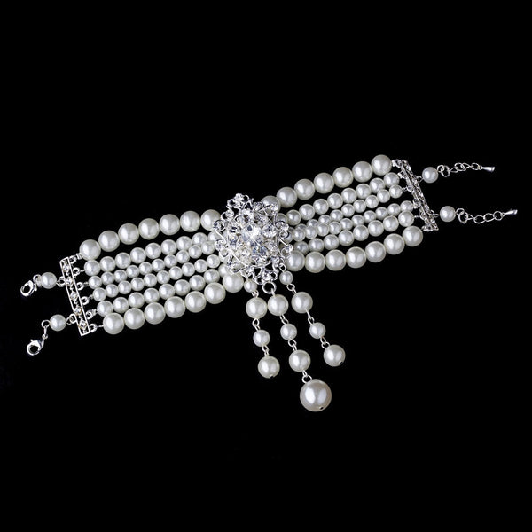 Classic Silver Ivory Pearl Bracelet B 8397