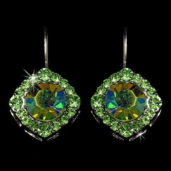 Earring 1003 Silver Green