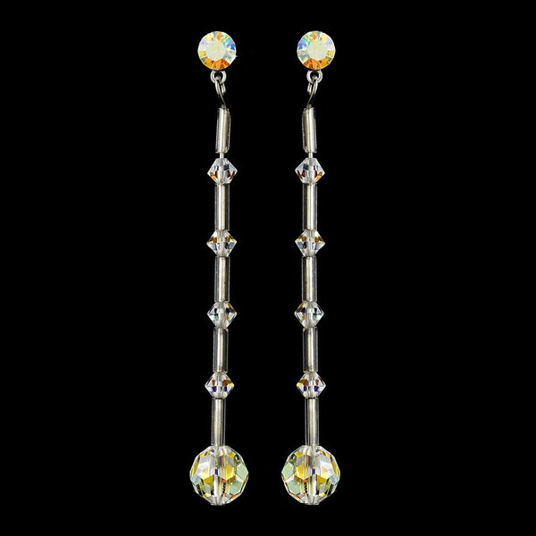 * AB Swarovski Crystal Earrings E 237
