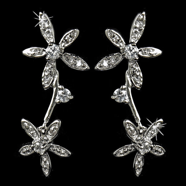 Unique Starfish Style Cubic Zirconia Earrings E 5265