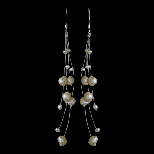 Freshwater Pearl Illusion Couture Earring w/Sterling Silver Hook E 8192