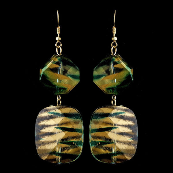 * Green Gold Earrings 8337