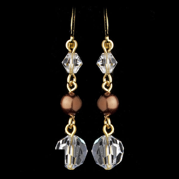 Earring 8352 Brown