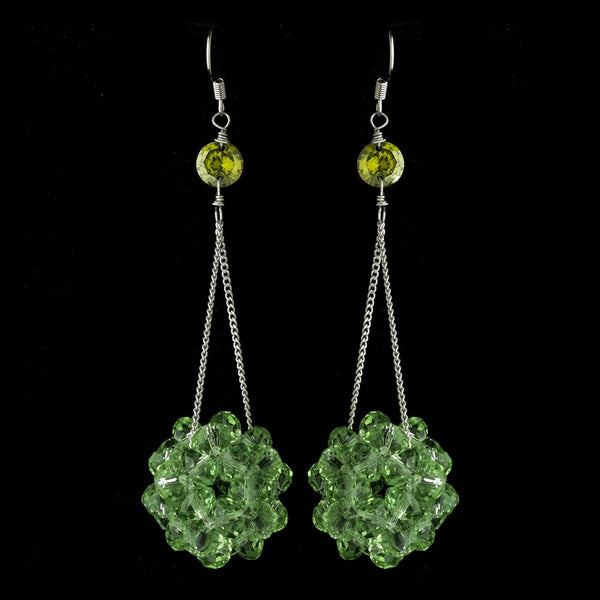 * Peridot Beaded Ball Earring Set 8551
