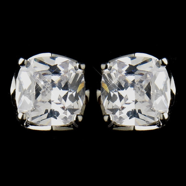 Stunning Cubic Zirconia Earring E 8791 Silver Clear