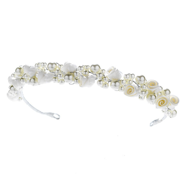Child's Headpiece 2902 (White or Ivory)