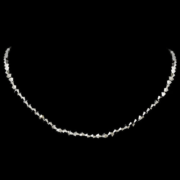 Hematite Swarovski Crystal Stretch Necklace N 235