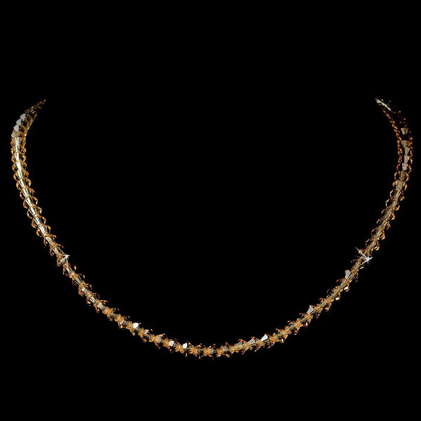 Light Colorado Swarovski Crystal Stretch Necklace N 235