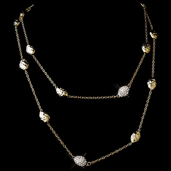 Gold Clear 36″ Necklace 7985