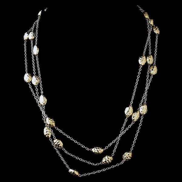 Silver Gold 60″ Necklace 7991