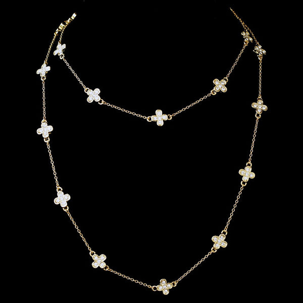 Silver Clear 36″ Necklace 7993
