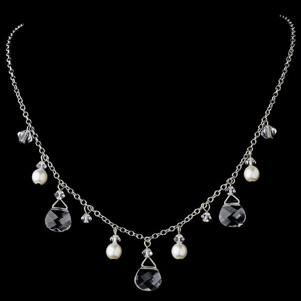 Necklace 8133 Silver Clear