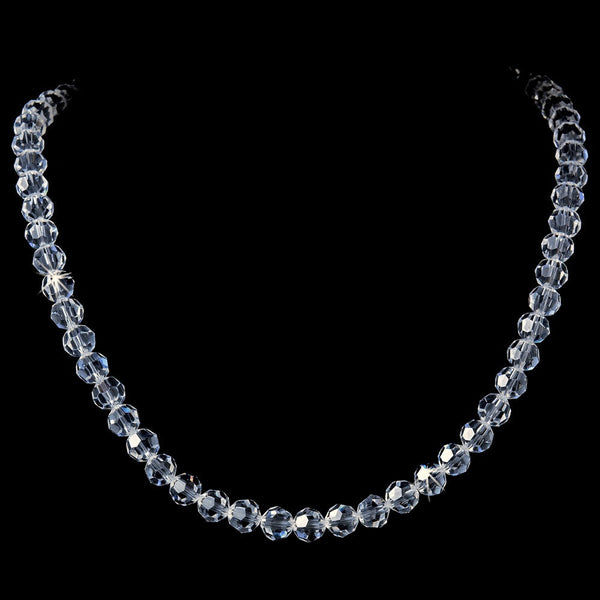 Single Swarovski Crystal Strand Necklace N-8144