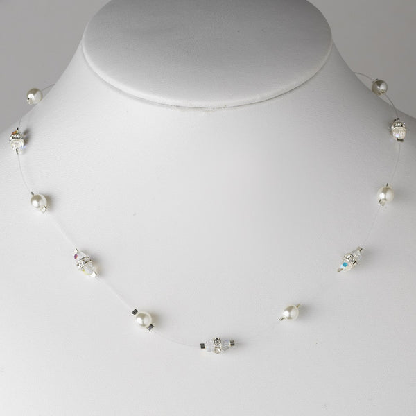 Pearl & Rhinestone Necklace 8364