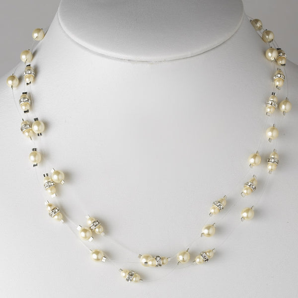 Pearl & Rhinestone Necklace 8366