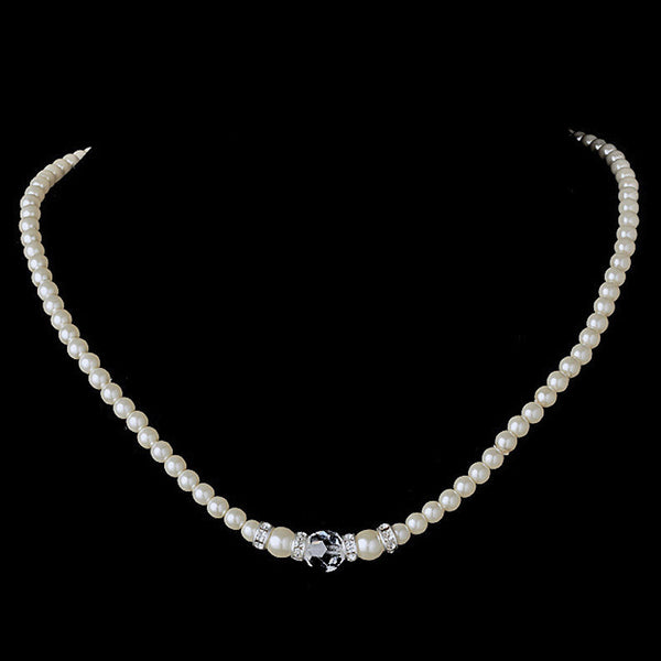 Pearl & Swarovski Crystal Bead Necklace 8368