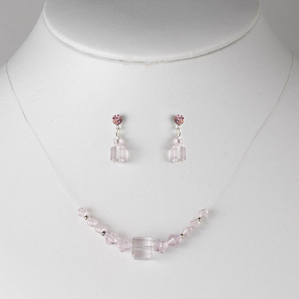 * Necklace Earring Set 233 Pink