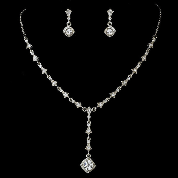 Dreamy Crystal Necklace & Earring Set 994