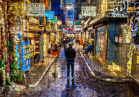 MELBOURNE LANEWAY 1000 PIECE JIGSAW PUZZLE -INTERNATIONAL