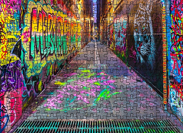 MELBOURNE STREET ART 1000 PIECE JIGSAW PUZZLE - INTERNATIONAL