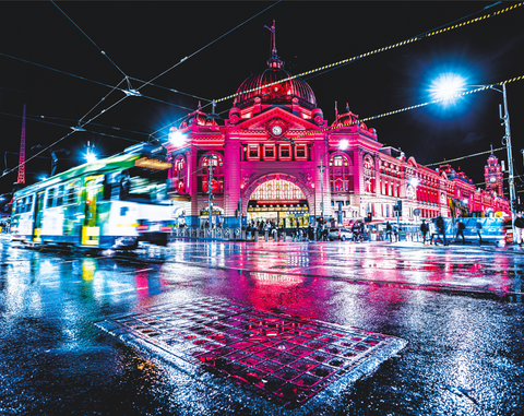 Wet Flinders Night - Print