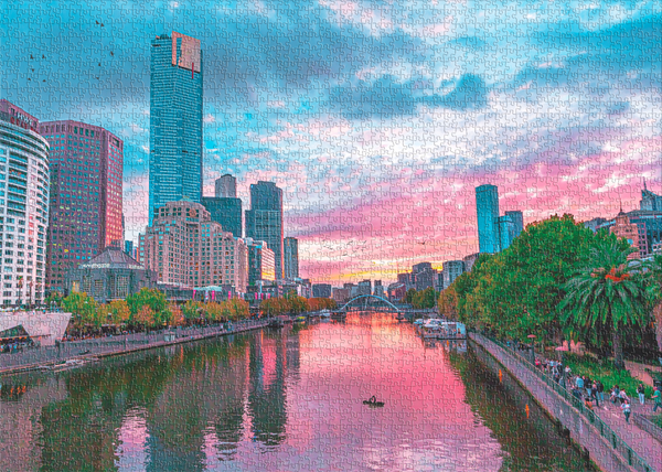 ROMANCE ON THE YARRA - 1000 PIECE JIGSAW PUZZLE