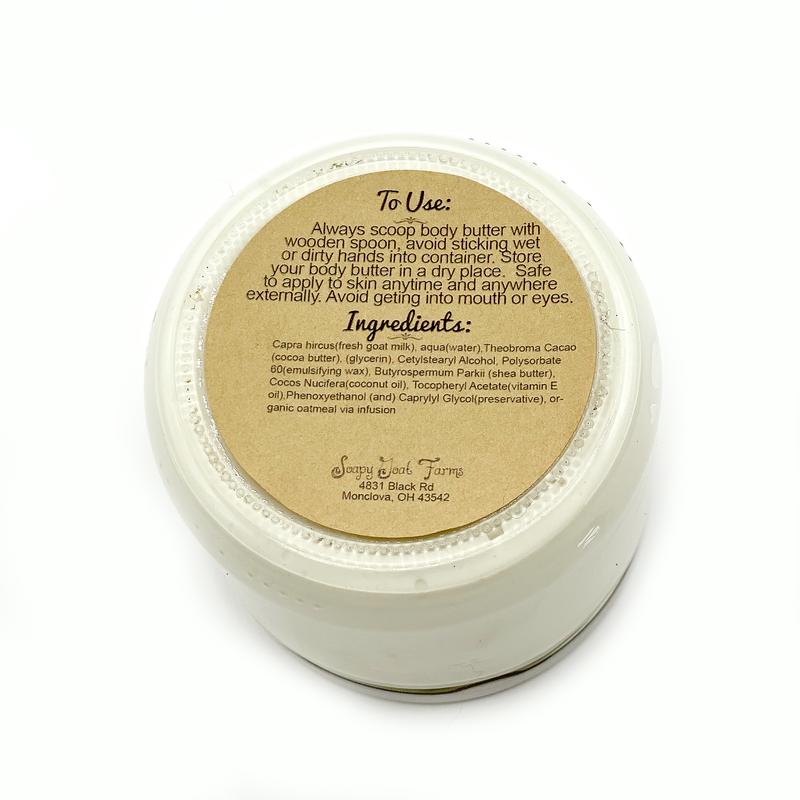 All natural Goats Milk Body Butter