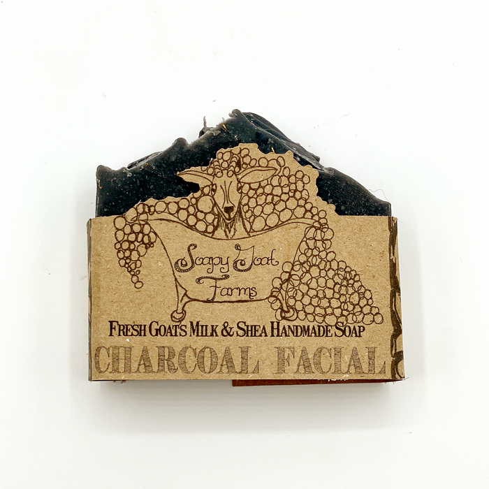 Artisan Goat's Milk Facial Soap- Activated Charcoal
