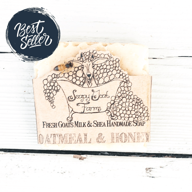 Goats Milk Bar Soap- Oatmeal & Honey