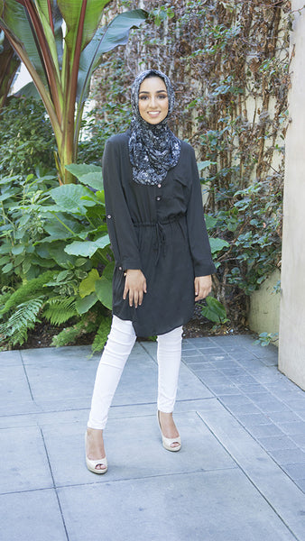 Black Drawstring Tunic
