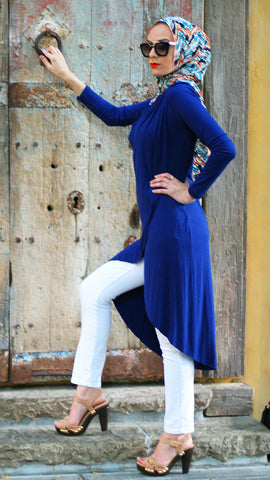 Navy Blue Crossover Tunic