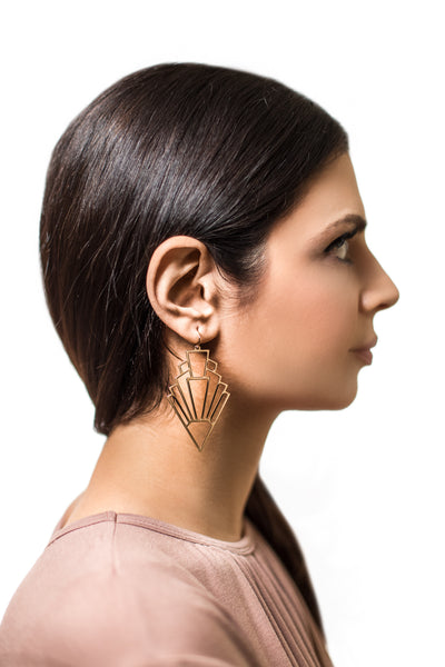 Gold Get To The Point Earrings