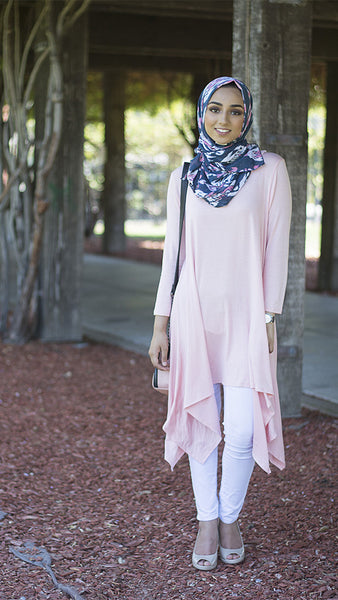Light Pink Asymmetrical Tunic