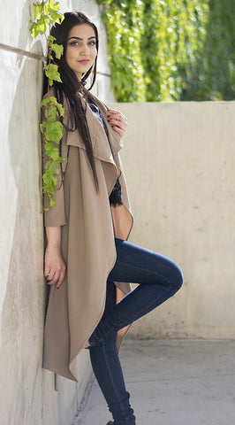 Taupe Waterfall Cardigan II
