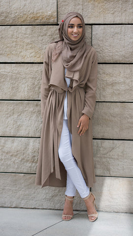 The Taupe Waterfall Cardigan