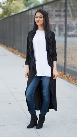 The Black Waterfall Cardigan