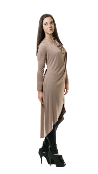 Beige Crossover Tunic